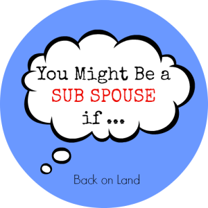 You Might Be a Sub Spouse if